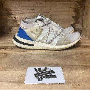 Adidas arkyn lightweight white blue sneakers shoes
